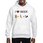 Beer + woman foot Hooded Sweatshirt
