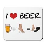 Beer + woman foot Mousepad