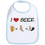 Beer + woman foot Bib