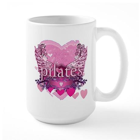Peace Love Pilates by Svelte.biz Large Mug