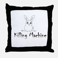 White Bunny Throw Pillow