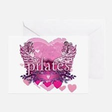 Peace Love Pilates by Svelte. Greeting Card