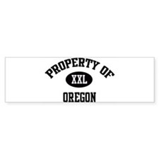 Property of Oregon Bumper Bumper Sticker