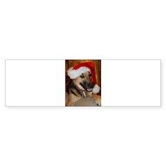 Christmas German Shepherd Bumper Sticker
