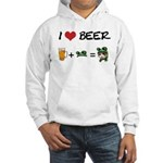 Beer + funny frog hat Hooded Sweatshirt