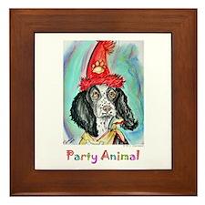 Party Animal, Fun Dog, Framed Tile