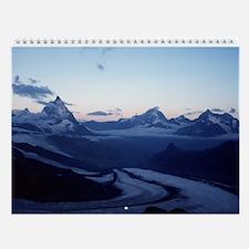 Unique Alps mountains Wall Calendar
