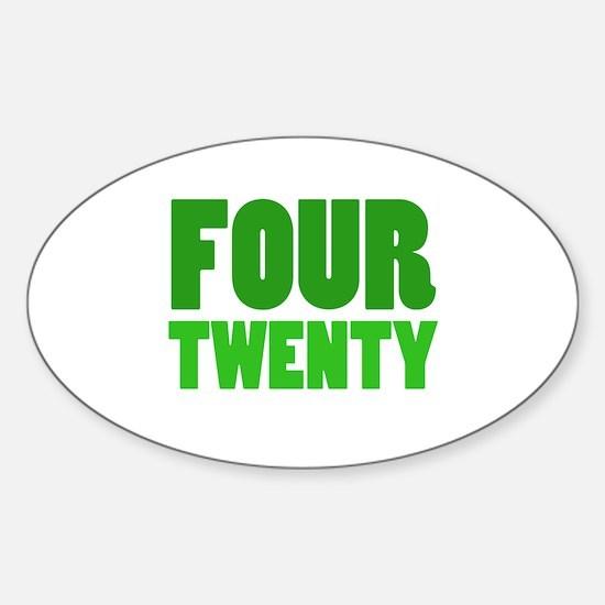 FOUR TWENTY Sticker (Oval)