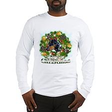 Merry Christmas Doberman 2 Long Sleeve T-Shirt