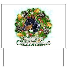 Merry Christmas Doberman 2 Yard Sign
