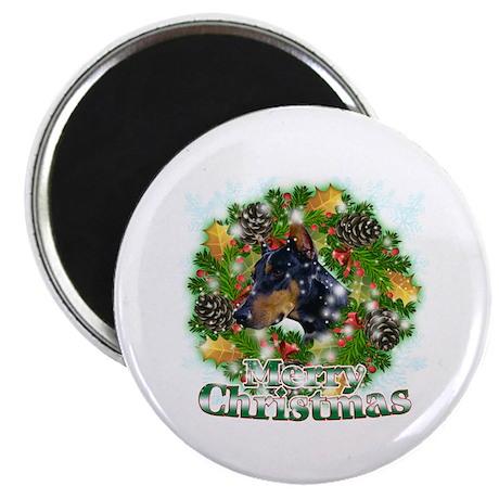 Merry Christmas Doberman 2 Magnet