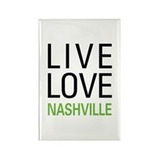 Live Love Nashville Rectangle Magnet