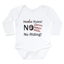 Horse Rules Long Sleeve Infant Bodysuit