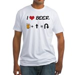 Beer + straight arrow Fitted T-Shirt