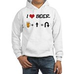 Beer + straight arrow Hooded Sweatshirt