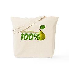 100% pear(s) Tote Bag