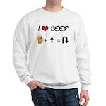 Beer + straight arrow Sweatshirt