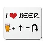 Beer + straight arrow Mousepad