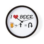 Beer + straight arrow Wall Clock