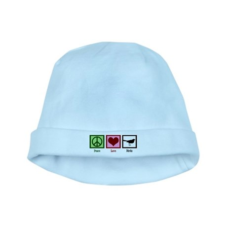 Peace Love Birds baby hat