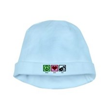 Peace Love Cats baby hat