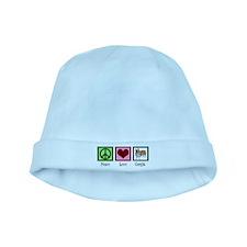 Peace Love Corgis baby hat