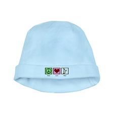 Peace Love Harp baby hat