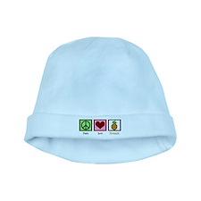 Peace Love Pineapple baby hat