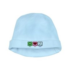 Peace Love Autism baby hat