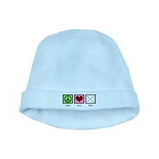 Peace Love Twirl baby hat