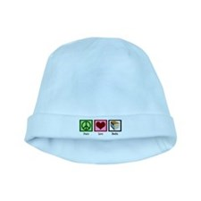 Peace Love Books baby hat