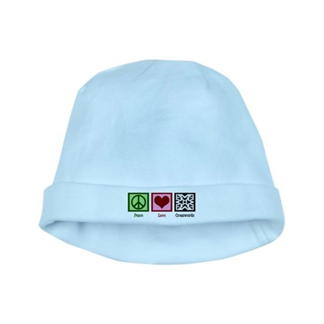 Peace Love Crosswords baby hat