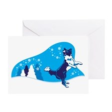 Snowflake Catch Greeting Card
