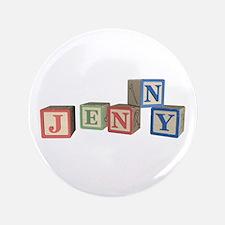 """Jenny Alphabet Block 3.5"""" Button"""