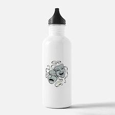 Comedy Tragedy Masks Water Bottle