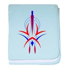 Unique Pinstriping baby blanket