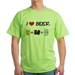 Beer + police Green T-Shirt