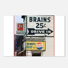 Brains Postcards (Package of 8)