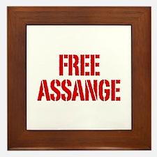Free Assage Wikileaks Framed Tile
