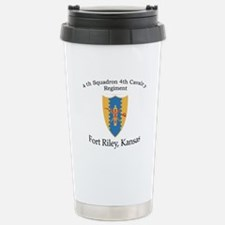 4th Squadron 4th Cav Stainless Steel Travel Mug