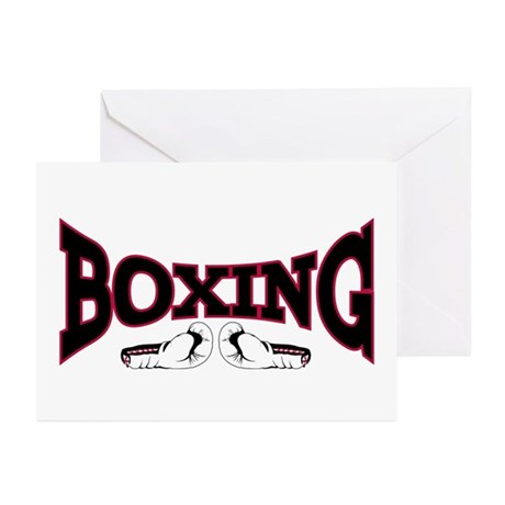 Boxing Greeting Cards (Pk of 10)