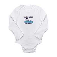 I'd Rather Be Swimming Long Sleeve Infant Bodysuit