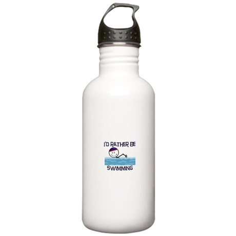 I'd Rather Be Swimming Stainless Water Bottle 1.0L