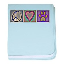 Peace Love Dogs (ALT) - baby blanket
