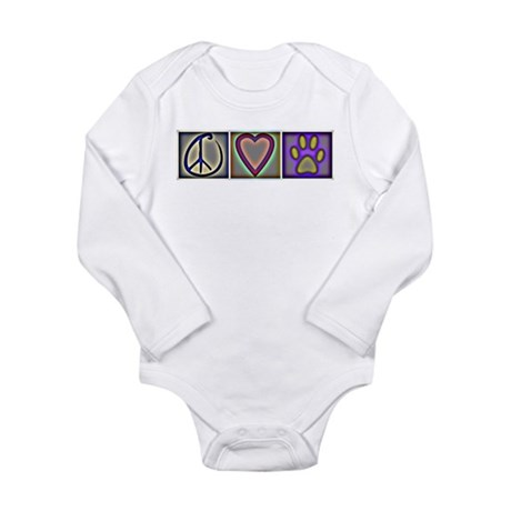 Peace Love Dogs (ALT) - Long Sleeve Infant Bodysui