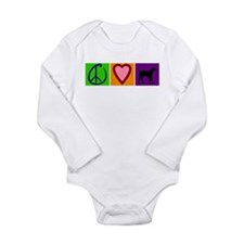 Peace Love Black Labs - Long Sleeve Infant Bodysui