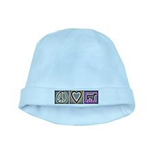 Peace Love Labrador Retriever baby hat