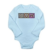 Peace Love Labrador Retriever Long Sleeve Infant B