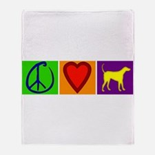 Peace Love Yellow Labs - Throw Blanket