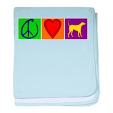 Peace Love Yellow Labs - baby blanket